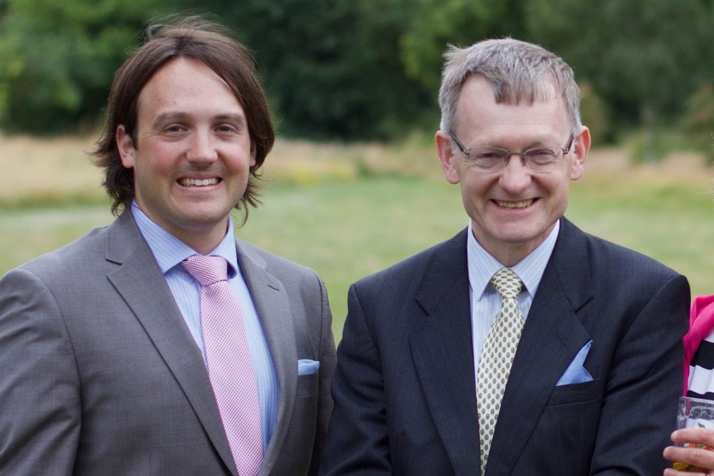 Bathcomms' History - Jonathan Sherwin and his father Stephen Sherwin at a family wedding