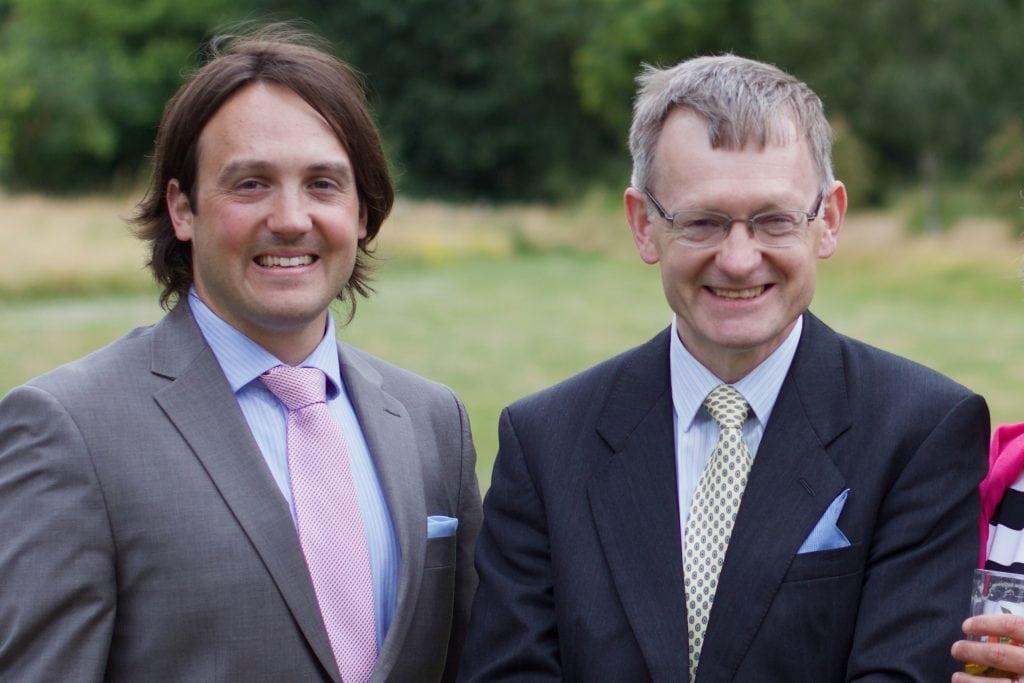 Bathcomms' History - Jonathan Sherwin and his father Stephen Sherwin at a family wedding