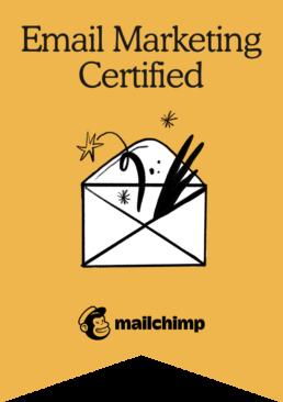 Mailchimp Email Marketing Certification Badge